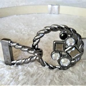 Chico's Ring and Hook Adjustable Leather Belt